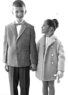 Little Reima couple from Double Breasted Suit, 1960s, Suit Jacket, Couple, Suits, Coat, Jackets, Fashion, Down Jackets