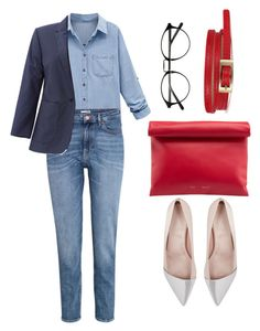"""""""smart casual"""" by yourselffashion ❤ liked on Polyvore featuring Giambattista Valli, WithChic, H&M and Equipment"""