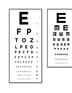 How to make your own eye chart with a neat saying or quote
