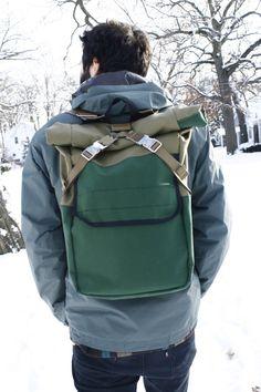 Rolltop-rucksack backpack by 934Bagworks on Etsy