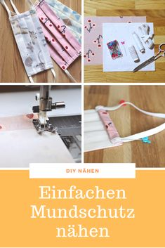 DIY Atemschutzmaske selber nähen – Well come To My Web Site come Here Brom Easy Sewing Projects, Sewing Tutorials, Sewing Patterns, Diy Mask, Diy Face Mask, Face Masks, Sewing Courses, Diy Nightstand, Rubber Bands