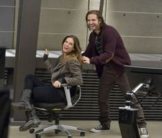 behind the scenes of Nikita with Alex and Birkhoff!!