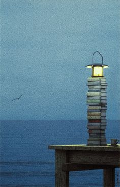 Bücherleuchtturm - Fabulous book-inspired art from Quint Buchholz, based in Munich, Germany