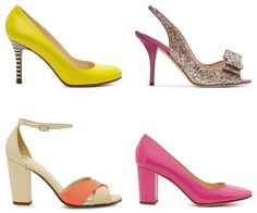 Kate Spade heels -- i want those glitter ones! And the yellow ones too