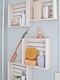 mobilier pas cher etageres salle de bain