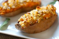 Twice-Baked Sweet Potatoes with Sage, Brown Butter, and Gruyere