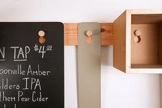 Peg Chalkboard / Canteen Portland Shaker Hooks Remodelista