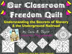 The Classroom Freedom Quilt activity Study History, History Class, Art Doodle, Black History Month Activities, Underground Railroad, History Projects, Teaching History, Before Us, Lesson Plans