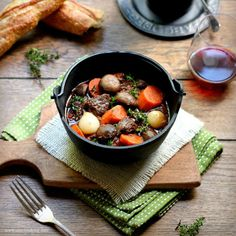 Beef Stew with Cognac and Red Wine
