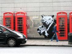 Amazing Banksy Graffiti Street Art by Robert Banks Banksy Graffiti, Arte Banksy, Banksy Rat, Graffiti Artwork, Street Art Graffiti, Bansky, Beaux Arts Paris, Urbane Kunst, Amazing Street Art