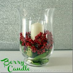 Simple Christmas centerpiece