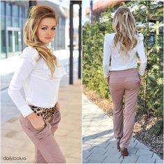 Trendy Office Look Office Looks, Office Fashion, Daily Look, Capri Pants, Suits, How To Wear, Style, Swag, Capri Trousers