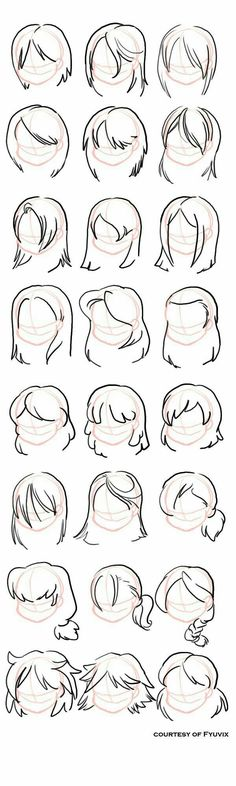 Hairstyles- straight by =fyuvix: design reference, drawing reference, hair reference, Drawing Lessons, Drawing Techniques, Drawing Tips, Drawing Ideas, Drawing Art, Hair Styles Drawing, Sketch Drawing, Drawing Projects, Sketch Ideas