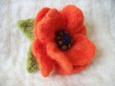 3d needle felt flowers - Google Search