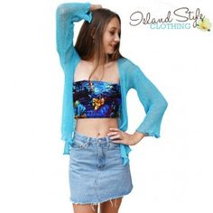 Blue Sheer Shrug Car
