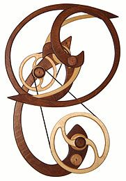 Kinetic Sculpture by David C. Roy - All Sculptures | Wood That Works | Kinetic Art - Tranquility