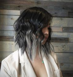 gray+balayage+for+long+black+bob