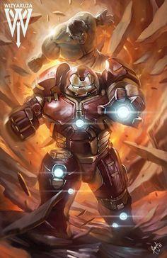 The Hulk vs. Hulk Buster by Wizyakuza | Ceasar Ian Muyuela *