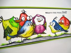 Stampers Anonymous Tim Holtz Bird Crazy Hero Arts Color Layering Bird &…