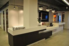 Edelman - a nice solution for out large pillar and having no front desk