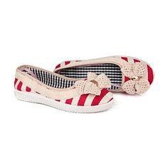 Womens Portuguese Handmade Nautical Flat Shoes ( 2 Colours )