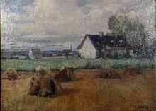 Ile d'Orleans landscape - Maurice Cullen, Ile d'Orleans landscape, Musée de la civilisation, Quebec