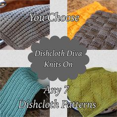 A personal favorite from my Etsy shop https://www.etsy.com/listing/203223122/knitting-pattern-choose-any-7-dishcloth