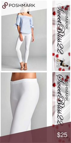 💎White Matte Leggings💎 Just in time for Spring! Leggings with a Matte finish! These are guaranteed to spice up your wardrobe! Comes in Mocha, Black,Blush and White! Comes in S,M,L ⭐️Small fits 2/4 ⭐️Medium fits 6/8 ⭐️Large fits 10/12 Pants Leggings