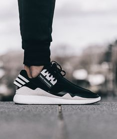 Y-3, QASA RETRO BOOST SNEAKERS: leather, suede and neoprene.