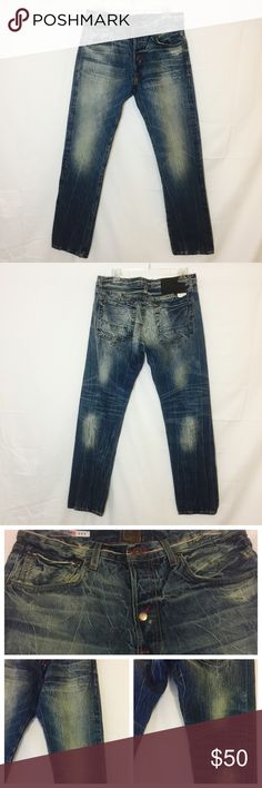 Men's Striver's Row & Co. Jeans Striver's Jeans are for those who love great quality and style. These jeans are very durable and have been treated to look aged. Details: Never worn, excellent condition, 5 pocket, button fly Striver's Row & Co. Jeans Straight