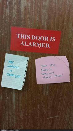 this door is alarmed!