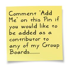 """Please follow me then comment """"Add Me"""" on this Pin if you would like to be added as a contributor to any of my Group Boards.......... You may also send me a direct msg here or email me at info@angelaeast.com with the subject HomeDIY plus your Pinterest name."""