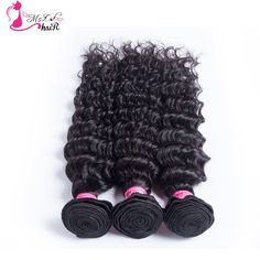 Queen Hair Products Brazilian Virgin Deep Curly Hair Wave 3 Pieces A Lot Can Be Dyed Deep Wave Unprocessed Brazilian Virgin Hair