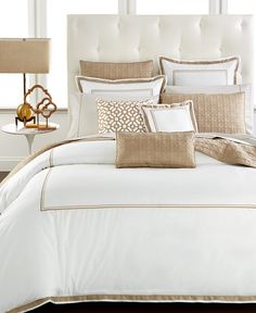 Hotel Collection Embroidered Frame King Duvet Cover, Only at Macy's - Bedding Collections - Bed & Bath - Macy's King Comforter, Queen Duvet, King Bedding Sets, Bedding Shop, Comforter Sets, Hotel Collection Bedding, Hotel Style Bedding, Bed Sheets, Duvet Covers