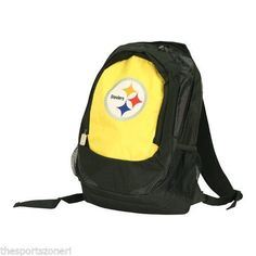 Pittsburgh Steelers Backpack #PittsburghSteelers Visit our website for more: www.thesportszoneri.com