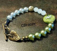 Blue&Green Dragonfly&Brass