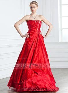 Quinceanera Dresses - $172.99 - A-Line/Princess Strapless Floor-Length Taffeta Organza Quinceanera Dress With Ruffle Beading (021005238) http://jjshouse.com/A-Line-Princess-Strapless-Floor-Length-Taffeta-Organza-Quinceanera-Dress-With-Ruffle-Beading-021005238-g5238