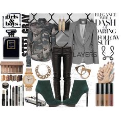 """""""Steel Layered Camo"""" by bettyboopbbw69 on Polyvore"""