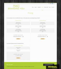 Branding You - Pricing page
