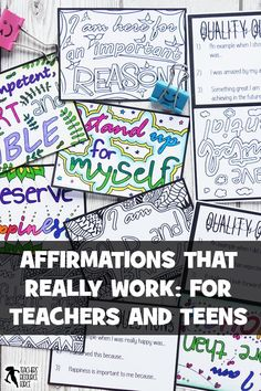 Why affirmations haven't worked for your students and the key step you're missing Teaching Character, Character Education, Autism Education, Teaching Tools, Teaching Resources, Teaching Methods, Teaching Activities, Classroom Activities, Teaching Art