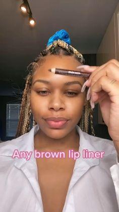 Dope Makeup, Glam Makeup Look, Beauty Makeup, Makeup Looks, Makeup For Black Skin, Makeup Black Women, Lipstick For Dark Skin, Aesthetic Hair, Aesthetic Makeup