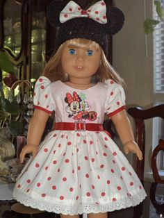 MINNIE MOUSE Outfit  American  Girl Doll by AmericanDresses
