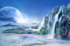 Here are some art pictures of extrasolar planets or exoplanets and other worlds beyond our solar system. Click the images for larger pictu. Science Fiction, Science Art, Foto Poster, Alien Planet, Solar Planet, Alien Worlds, Moon Photography, Alien Art, Fantasy Places