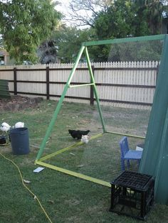 Whether you have an old swing set laying around or know of a broken down set that will inevitably end up in a junk yard or landfill this is a great way to turn one man's trash into another one's treasure; all the while helping the environment and becoming more self-sustainable. Backyard (and frontyard) chicken enthusiasts as well as those who love repurposing will be tickled pink by the following project...