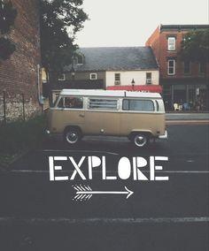 """""""explore"""" - Volkswagen - camper"""