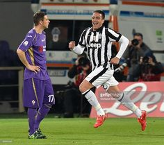 Alessandro Matri of Juventus FC celebrates after scoring the opening goal during the TIM cup...