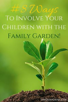 Do you need ideas for how to do a family garden? Then check out these #8 Simple Ways To Involve Your Children with the Family Garden!