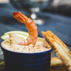 A no-fail crowd pleaser. The prawns can be replaced with smoked salmon trout, in that case, decorate the paté with a rolled 'rose' of salmon.