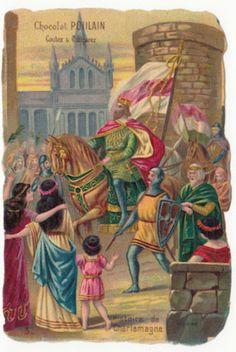 N-3-Charlemagne-Karl-der-Grosse-Saxons-Prise-Pavie-Lombard-FRANCE-GRANDE-CHROMO