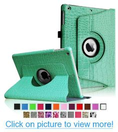 Fintie Apple iPad Air Case - 360 Degree Rotating Stand Case Cover with Auto Sleep / Wake Feature for iPad Air / iPad 5 (5th Generation) - Crocodile Turquoise